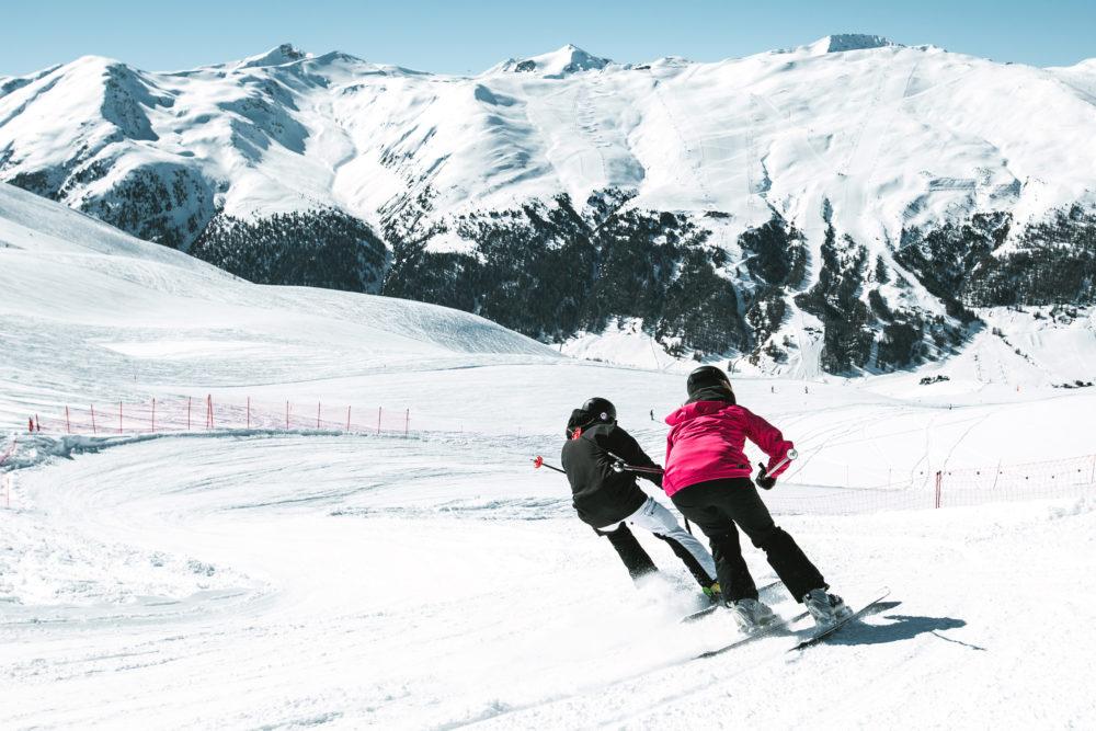 Freeride e cross sci a livigno sulle alpi