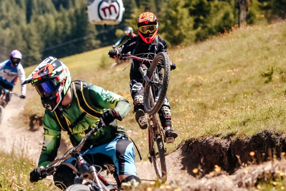 Bike riders al bikepark mottolino a Livigno