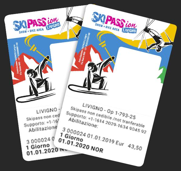 Card skipass per il divertimento sulle piste della skiarea di livigno