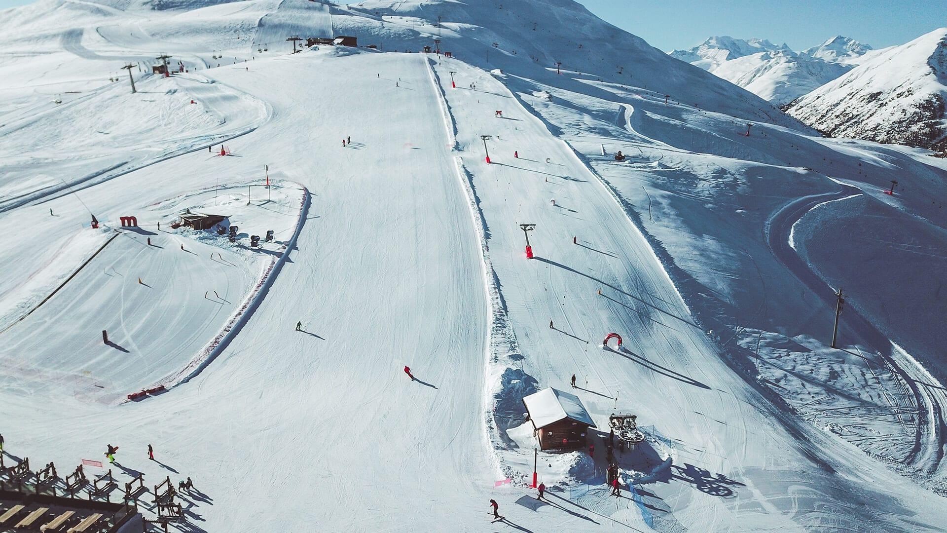 Area gioco Mottolino presso skiarea di Livigno