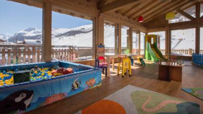 Area coperta del kinder club Lupigno a Livigno