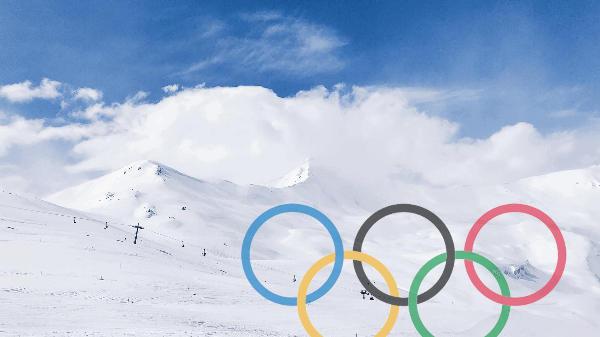 simboli olimpici a Livigno per olimpiadi 2026