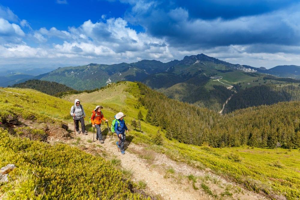 hiking a Livigno sulle Alpi