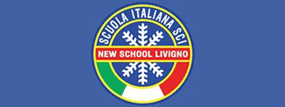 logo new school livigno, scuola italiana sci e snowboard