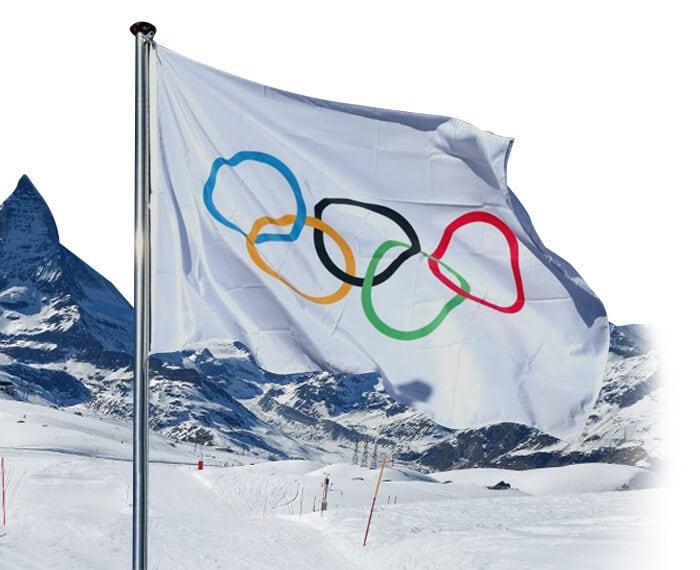 bandiera olimpica per Olimpiadi Milano- Cortina 2026