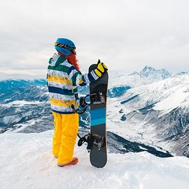 snowboarder a Livigno