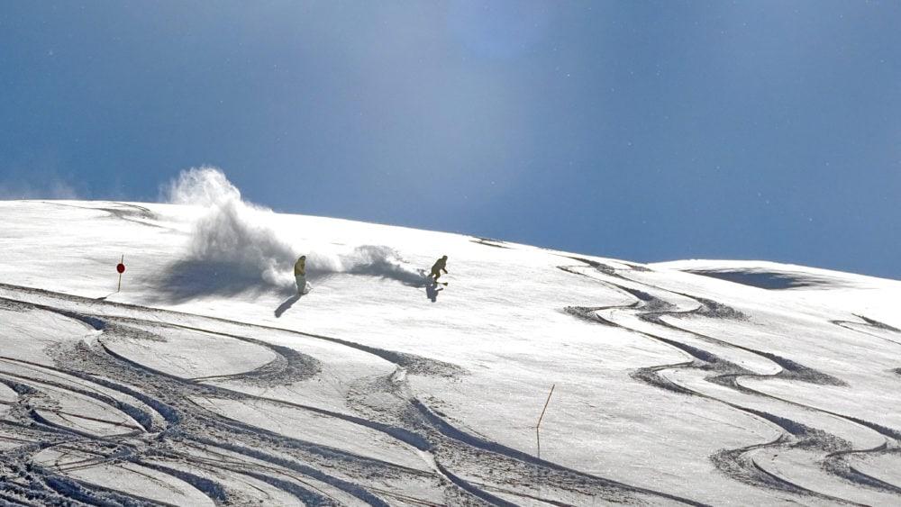 Powder slopes sulle piste di livigno