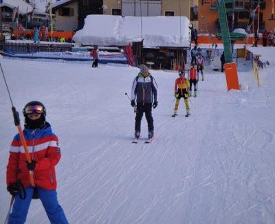 sciovia Amerikan nella skiarea di Livigno
