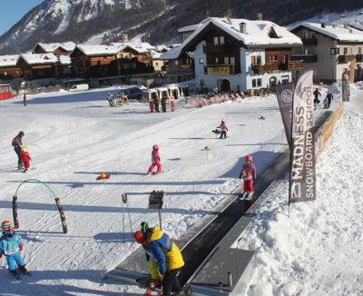 Sciovia del Sole per bambini nella skiarea di Livigno