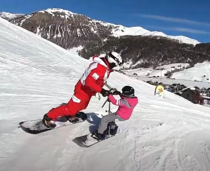 lezione individuale di snowboard a Livigno