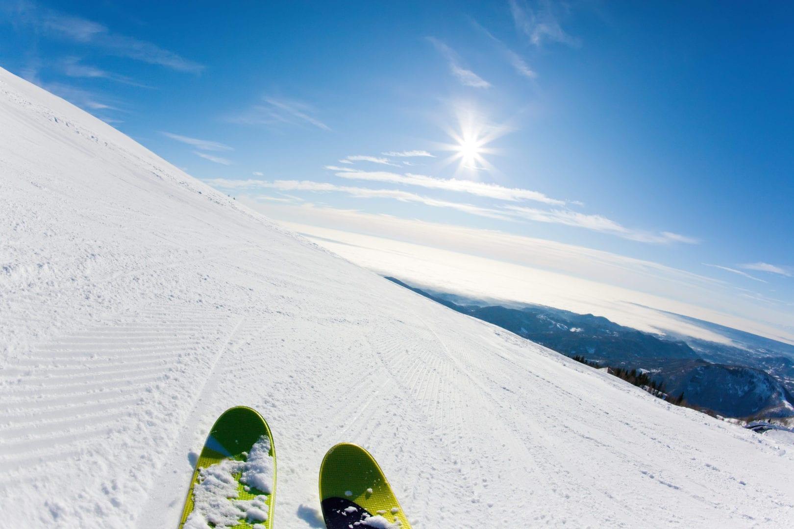Paesaggi emozionanti sulle piste della skiarea di livigno