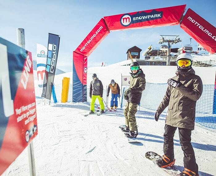 partenza in quota dello snowpark Mottolino