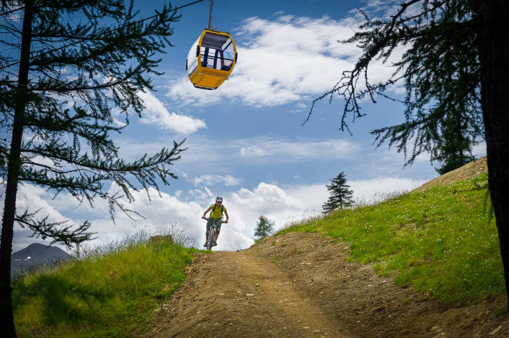 Train in estate, paradiso per bikers